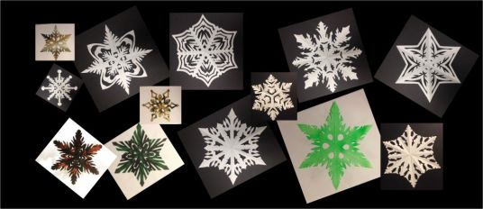 Multicolored Snowflake Collage (Compressed)